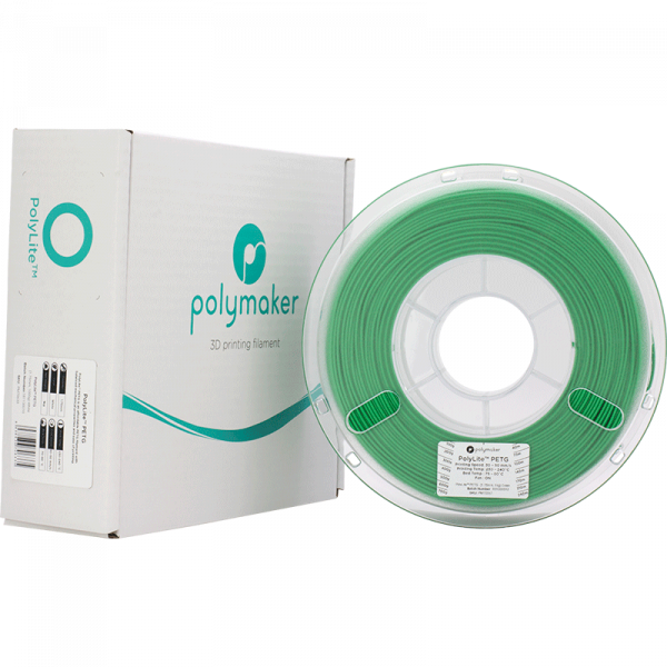 PolyLite PETG Green 175 Spool Picture With Packaging