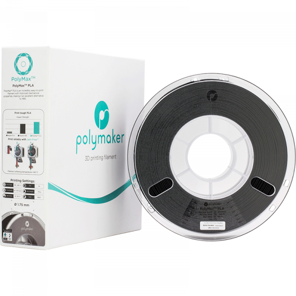 PolyMax PLA Black 175 Spool Picture With Packaging 2