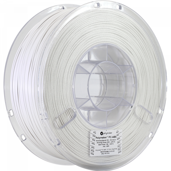 Polymaker PC ABS White 175 Spool Picture Asymmetric