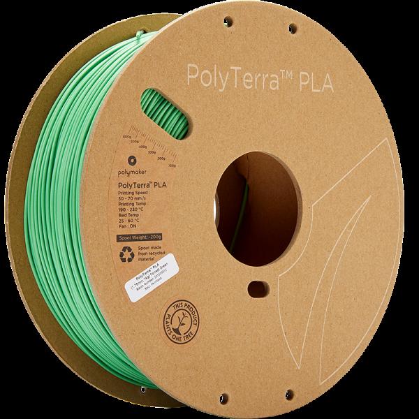 PolyTerra PLA Green 175 Spool Picture Asymmetric