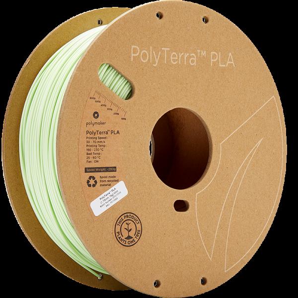 PolyTerra PLA Mint 175 Spool Picture Asymmetric