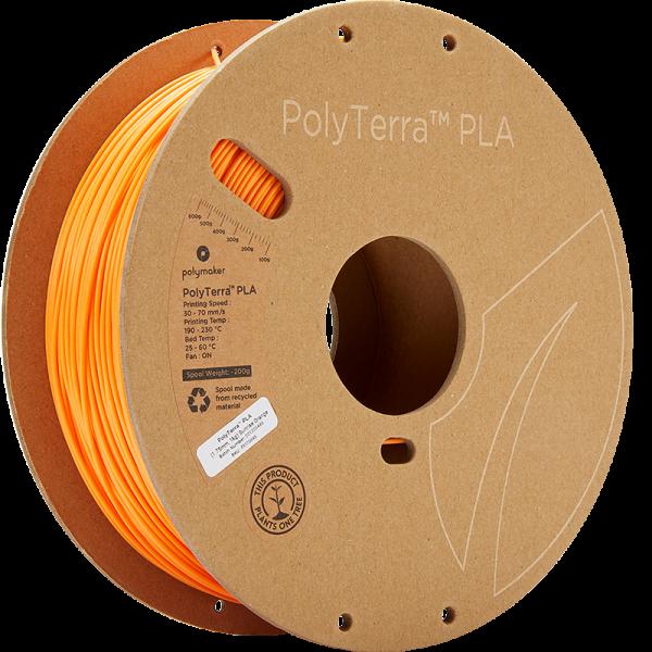PolyTerra PLA Orange 175 Spool Picture Asymmetric