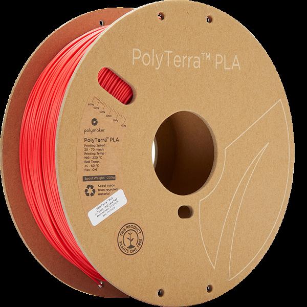 PolyTerra PLA Red 175 Spool Picture Asymmetric