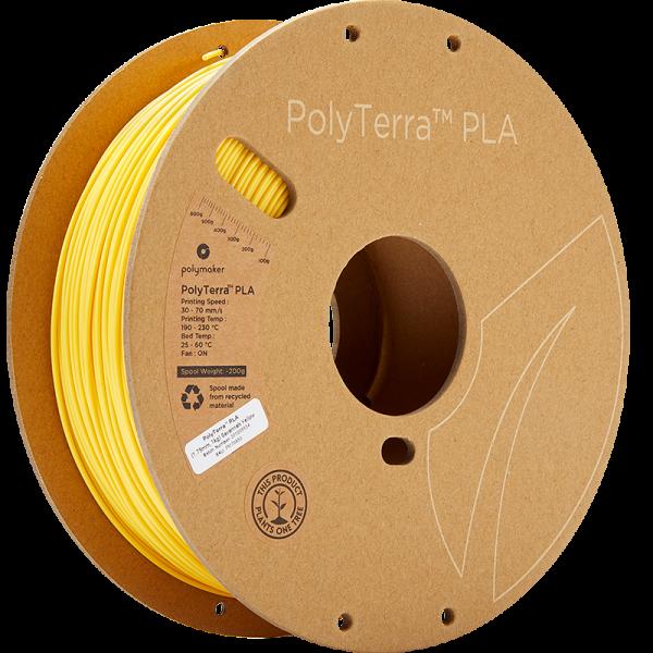 PolyTerra PLA Yellow 175 Spool Picture Asymmetric